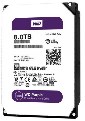 Western Digital WD80PUZX 8TB 5400 RPM Surveillance HDD