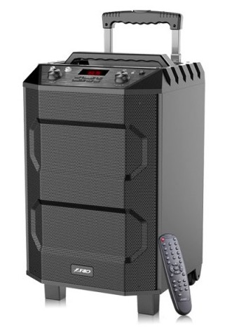 F&D T5 Digital FM Trolley PA System with Wireless Microphone