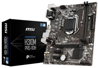 MSI H310M PRO-VDH 8th Gen Desktop PC Motherboard price (4,300)