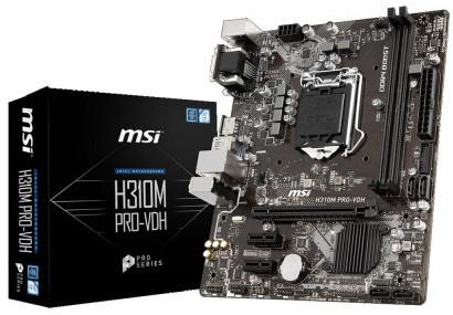 MSI H310M PRO-VDH 8th Gen Desktop PC Motherboard