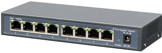 Outdoor 8 Ports Epon Reverse POE Network Switch with ONU