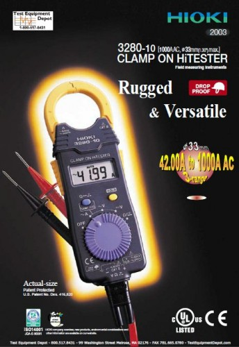 Digital Clamp on Meter AC HIOKI-3280