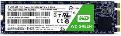 Western Digital Green M.2 2280 120GB SATA Internal PC SSD Price(2,150)