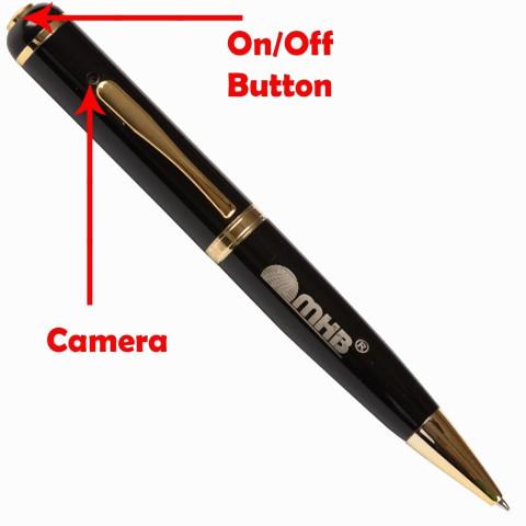 Pen Pinhole Spy Camera 32GB Memory 12 Hours Video Recording