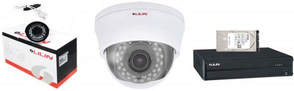 LILIN CCTV Package 4CH DVR 2 PCS CC Camera 1TB HDD