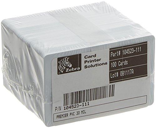 Zebra PVC CR80 30 MIL Blank and White ID Card
