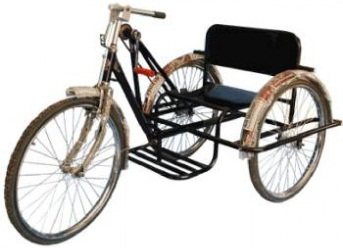 Tricycle Three Wheel MS Steel Structure for Single Person