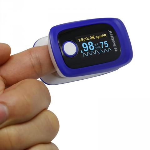 Wireless Bluetooth Finger Pulse Blood Oxygen Oxi Meter