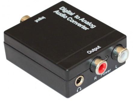 Digital to Analog Audio Converter Coaxial / Optical