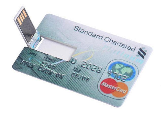 Bank Credit Card Shaped 16 GB USB 2.0 Pen Drive