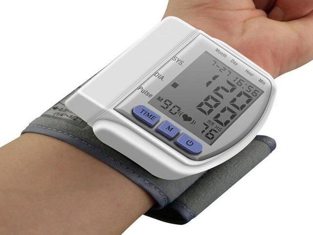 Digital LCD Wrist Cuff Arm Blood Pressure Monitor