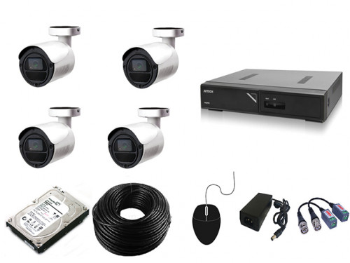CCTV Package Avtech 4-CH DVR 4-Pcs 2MP Camera 500GB HDD