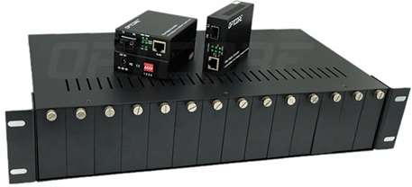 Media Converter Chassis MC1400-5V with 2 Fan