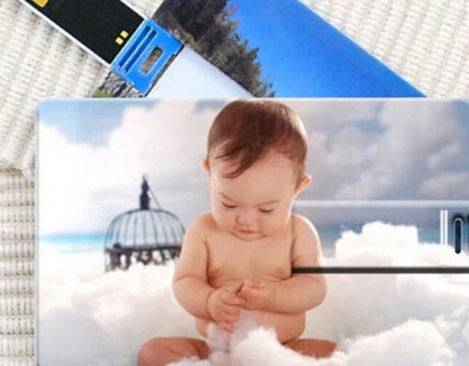 Card Shape Pendrive with Custom Picture