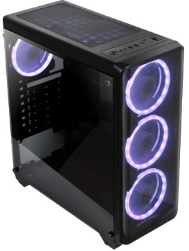 Mirror Kingdom Gaming Casing with Power Supply