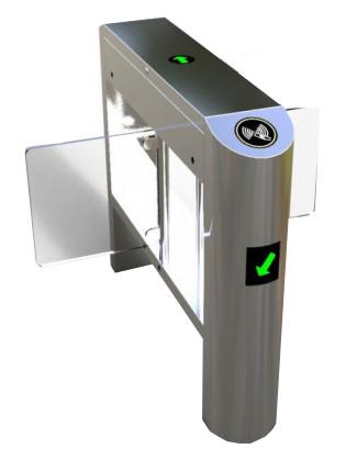 RFID Dual Swing Turnstile Gate
