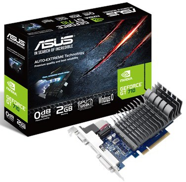 Asus GT710 2GB DDR3 Efficient Cooling Graphics Card