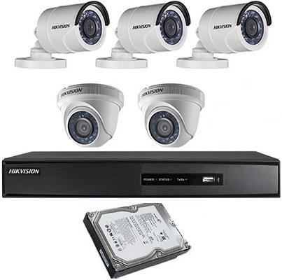 "CCTV Package 8CH DVR 5-Camera 19"" Monitor"
