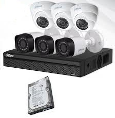 CCTV Package 8CH DVR 6-Camera 60M Cable