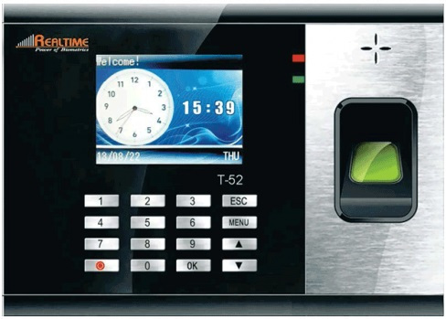Realtime T52 GPRS Fingerprint Time Attendance Recorder