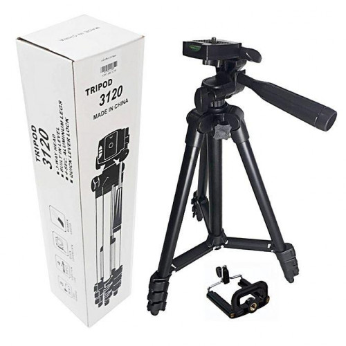 Aluminum Alloy Tripod Camera Stand with Phone Holder