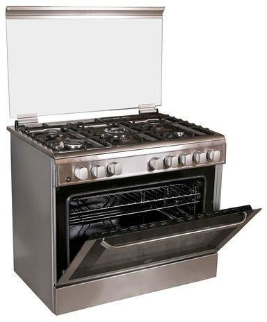 Indesit I95T1CXEX Stainless Steel 5 Burner Gas Stove