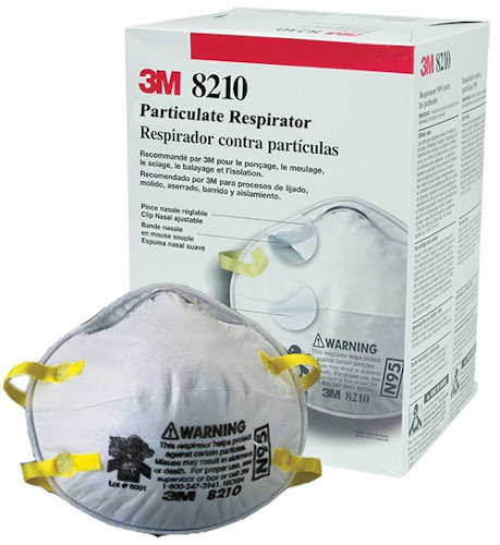 Respirator N95 3m Mask Dust 8210 Particulate