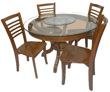Round Wooden 4 Seater Dining Table Dl90f Price In Bangladesh Bdstall