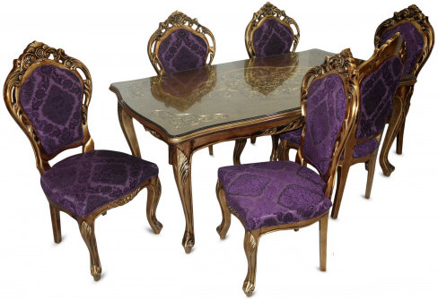 Victorian Wooden 6-Seater Dining Table AF-013