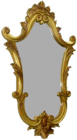 Victorian Wood Wall Mirror AF-022