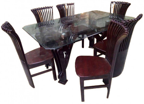 Unique Design Dining Table with 6 Chair SR-D06