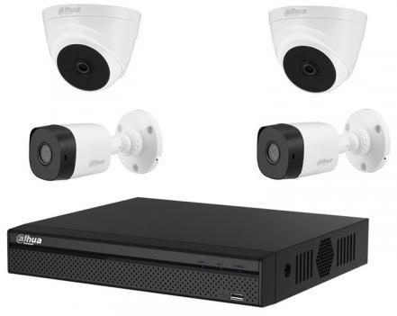 CCTV Package Dahua 4 Channel DVR 4 Pcs Full HD Camera