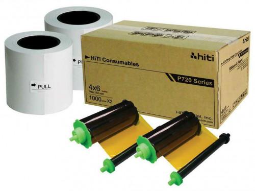 HiTi P720L 4 x 6 Inch Printer Ribbon and Paper Case