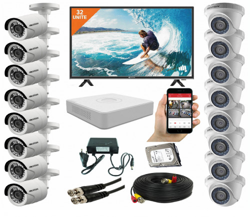 CCTV Package 16CH DVR 16PCS Camera 2TB HDD 32