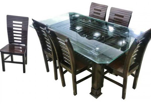 Coffee Color Dining Table Set