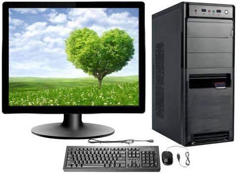 "Desktop PC Intel Core i7 4GB RAM 17"" Square Monitor"