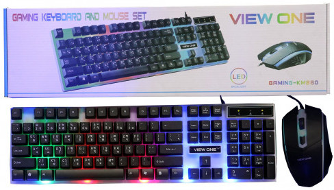 View One Gaming Keyboard with Mouse Set